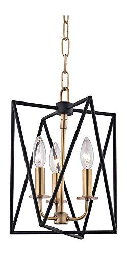 Laszlo 3-Lights Pendant in Aged Brass
