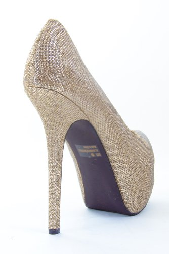Champagne Bridal Wedding Glitter Mesh Pump