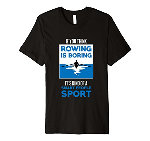 Crew Rowing T-Shirt Rowing Smart People Sport Shirt Gift Tee ()