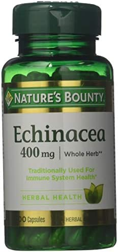 Nature s Bounty Natural Whole Herb Echinacea 400mg, 100 Capsules Pack of 3