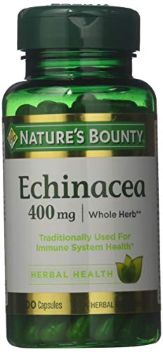 Nature's Bounty Natural Whole Herb Echinacea 400mg, 100 Capsules (Pack of 3) ()