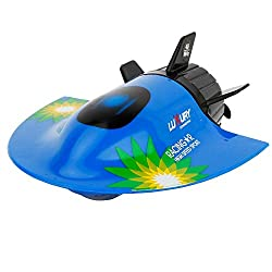 PSFS Submarine Mini Electric Radio Remote Control Submersible Boats,Christmas Toys (Blue)