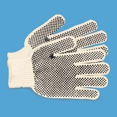 - Mens Work Gloves, PVC-Dotted String Knit, Ambidextrous, Large, Dozen Pair by Galaxy