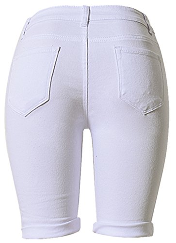 Taille Jeansshorts Hose Nightclub Hohe cher schedenimshorts Shorts Pants Hot Beautisun Holiday Mittel Baumwolle Damen W Stretchhose Sommer Jeans L Blanc Yx4vqwU