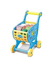 Coerni Christmas Gift - 1 Set Baby's Shopping Carts + Fake Fruit Vegatble Food Toy