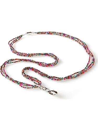 Vivian Beaded Badge ID Necklace Lanyard for Women ()