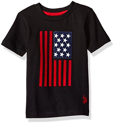U.S. Polo Assn. Boys' Crew Neck Iconic Graphic Logo T-Shirt,black ()
