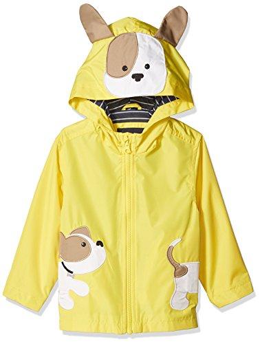 London Fog Baby Boys Little Animal Rainslicker Rain Jacket, Yellow Puppy, 18M