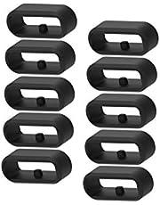 Chofit Vervangende Veilige Ringen Compatibel met Garmin Vivoactive 3 Music& Vivoactive 3 Smartwatch Strap Bands Siliconen Connector Keepers Bevestigingsring Houders Polsband Beveiligingslus Zwart