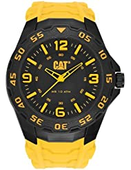 CAT WATCHES Mens LB11127137 Motion Analog Display Quartz Yellow Watch