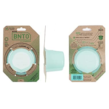 BNTO by Cuppow - Canning Jar Lunchbox Adaptor - Wide Mouth - 6oz - Mint Green