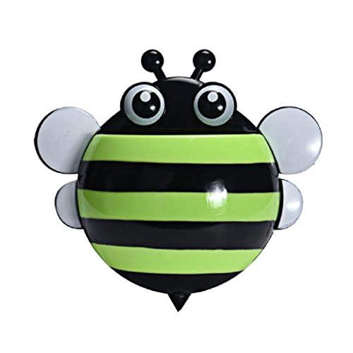 Kreative Nette Biene saugstark Zahnbürste Zahnpasta Halter (Grün )