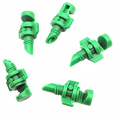 Whitelotous 100pcs 180 Degree Refraction Autmizing Nozzle for Cloning Machine Hydroponic Garden Irrigation