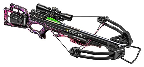 Tenpoint Lady Shadow Crossbow Package with 3X Pro-View 2 Scope, 3-Arrow Instant Detach Quiver, 20' Magnum XX75 Aluminum Arrows, Ambidextrous Side-Mount Quiver Bracket, and ACUdraw 50