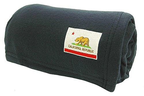 World's Best Cozy Soft Microfleece Travel Blanket, California Flag Navy,