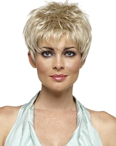 Short Straight Blonde Costume Wigs for Black Women Pixie Cut Natural Looking Wig for African American Women Wigs - Price Is Right Model Costume