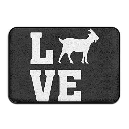 Non Slip Door Mat Outdoor, Decorative Garden Office Bathroom Door Mat, Dining Hallway Bathroom Love Goat Doormat