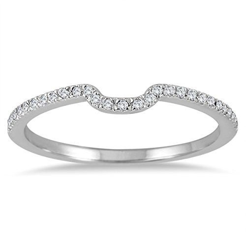 1/8 Carat TW Diamond Wedding Band in 14K White Gold