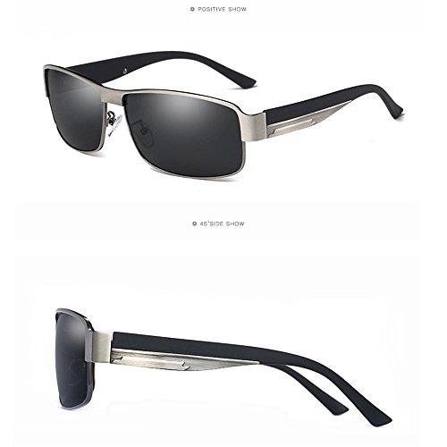 aluminio caballo al de conducción copas deporte Silver sol aire Gafas libre hombres sol de de polarizantes magnesio haixin gafas XSwq7x