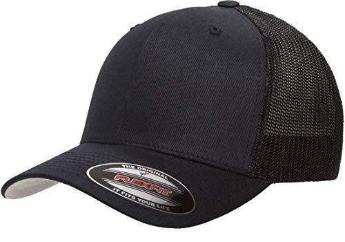 Flexfit Trucker Hat for Men and Women   Breathable Mesh, Stretch Flex Fit Ballcap w/Hat Liner (Darknavy) ()