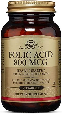 Solgar – Folic Acid 800 mcg, 250 Vegetable Capsules – 2 Pack