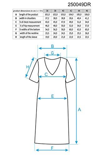 dress 250049 Ennywear sleeved short lace women's Blue HIOq0