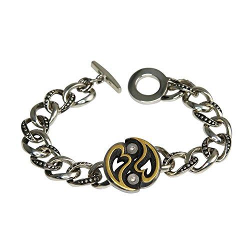 LIBÉ argentvm avrvm-bracelet en argent 925 et or 14 carats-longueur :  21 cm
