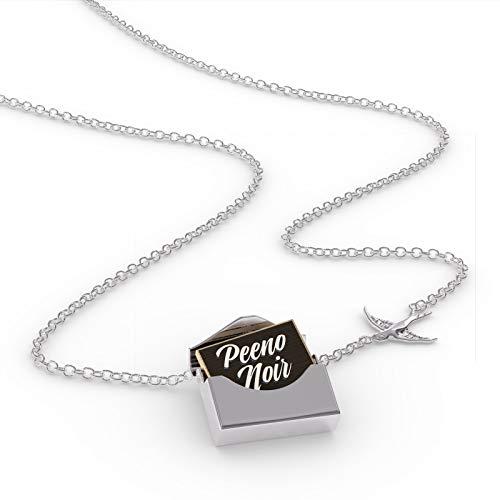 - NEONBLOND Locket Necklace Classic Design Peeno Noir in a Silver Envelope