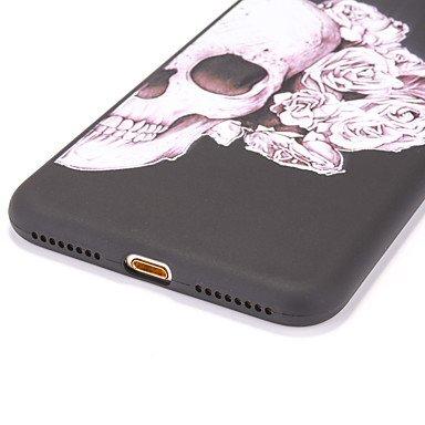 Fundas y estuches para teléfonos móviles, Caso para el iphone de la manzana 7 7 más el patrón esquelético de la cubierta del caso friegan la caja más suave del teléfono de la caja ( Modelos Compatible IPhone SE/5s/5