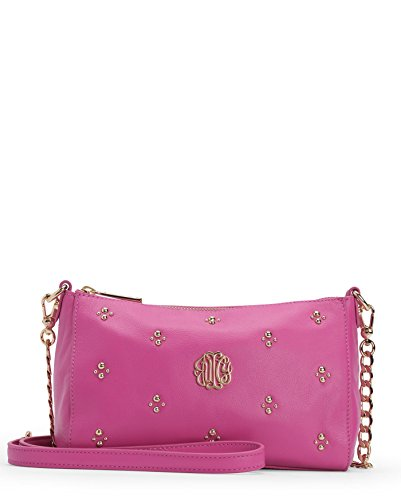 Juicy Couture Hollywood Leather Crossbody - Pink (Pink Juicy Couture Purse)