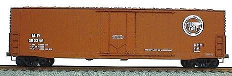 (50' Welded-Side Plug-Door Boxcar - Kit -- Missouri Pacific (Oxide))