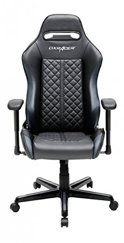 DXRacer OH/DH73/NG D73-NG Silla, poliéster, Negro/Gris