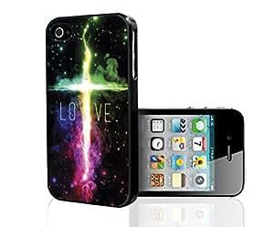 LOVE in Galaxy Nebula Hard Snap on Phone Case (iPhone 4/4s)