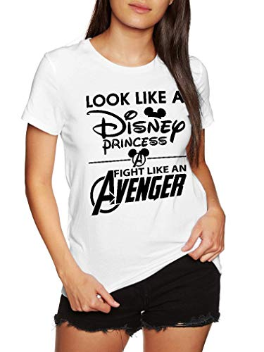 Look Like A Princess Fight Like an Avenger - Funny Vintage Trending Awesome Gift Shirt (Unisex White, L) ()