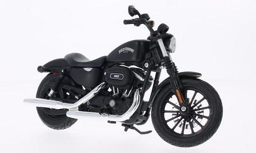 Harley Davidson Sportster Iron 883 , matt-black, 2014, Model Car, Ready-made, Maisto 1:12