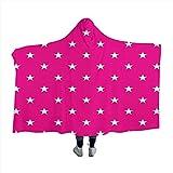 GGACEN Hot Pink Warm Wearable Blankets
