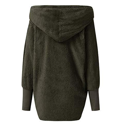 Army Largos Moda Manga Chándales Ocio 2019 Abrigo En Green Suéter Sección Invierno Needra Blusa Abrigos De Top Camisa Sudadera Mujer Estilo La Camisas Confort chaqueta Larga Último pABxaYnw4