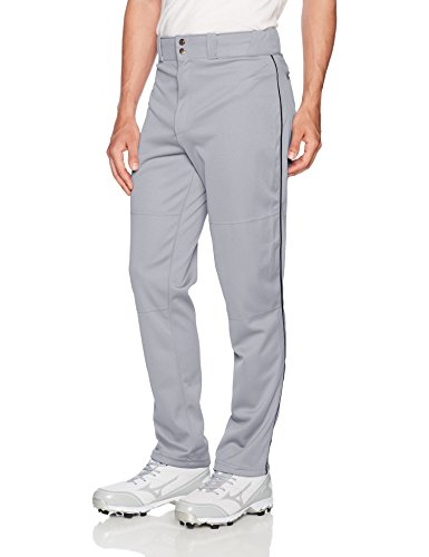- Wilson Men's Classic Relaxed Fit Piped Baseball Pant, Grey/Black, Medium