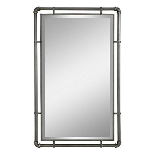 Aspire 4882 Wall Mirror, Gray (Metal Framed Mirror)