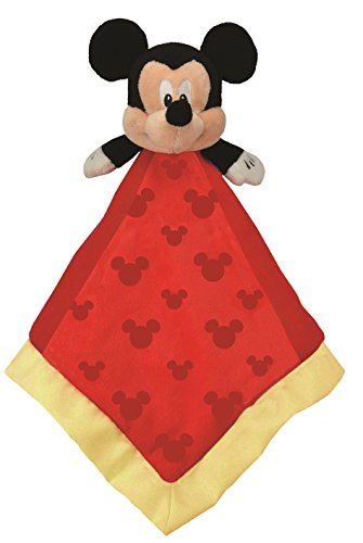 Disney Baby Mickey Mouse Plush Stuffed Animal Snuggler Blanket - Red