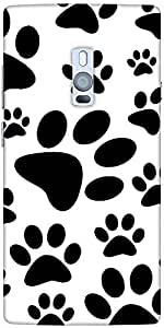 Snoogg Dog Stamps Designer Protective Back Case Cover For One Plus Two