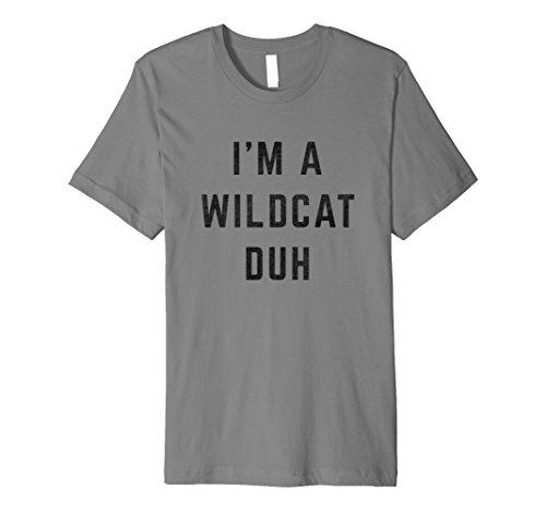 Distressed I'm a Wildcat Duh Halloween Costume Shirt