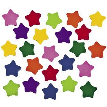 Mini Star Erasers ~ 750 Erasers Total ~ Approx. 3/4 Inch ~ New in Sealed -