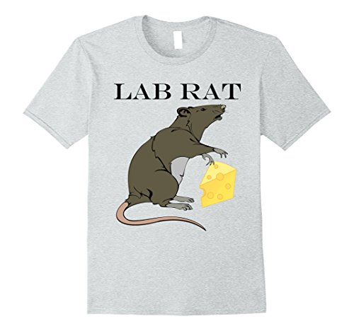 Lab Rats Costumes (Mens Funny Lab Rat Halloween Tshirt Medium Heather Grey)