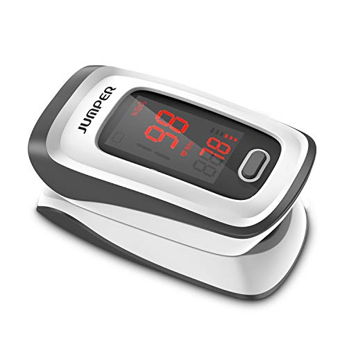Fingertip Pulse Oximeter with Large LED Display Blood Oxygen Saturation Monitor for Pulse Rate Monitor and SpO2 Level, Heart Rate Monitor Include Batteries, Lanyard and Pouch