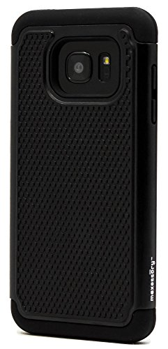 Slim Rugged Shockproof TPU Case For Samsung Galaxy S7 Edge (Black) - 3