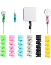 Kabelbescherming, 16 stuks iPhone Android kabel beschermfolie, datakabel protector telefoonlader kabel saver, voor USB-hoofdtelefoon MacBook, willekeurige kleur
