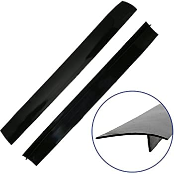 Stove Gap Caps, Set of 2 Black, Flexible Silicone Gap Covers, Seal the Gap Next to your Stove, McClure's Gap Caps