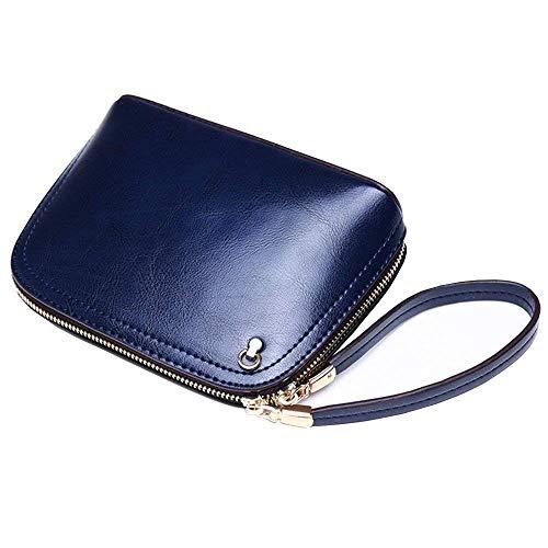 Rosado Para Mensajero Mujer Bolso De Eeayyygch Tamaño Azul gris Malluo Cuero color w6zUqfxAF