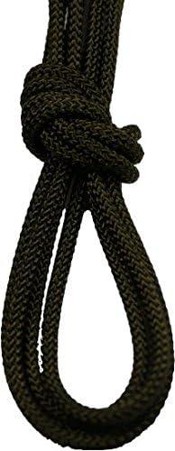 靴ひも.com コンバットブーツ用ミリタリー靴ひも・約3mm幅・丸・カーキ・280cm